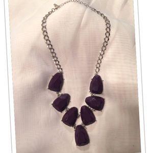 Deep purple stone necklace